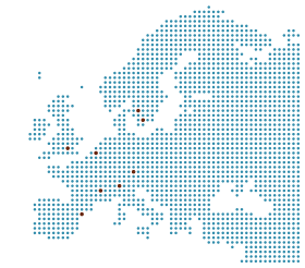 A map of our consortium in Europe